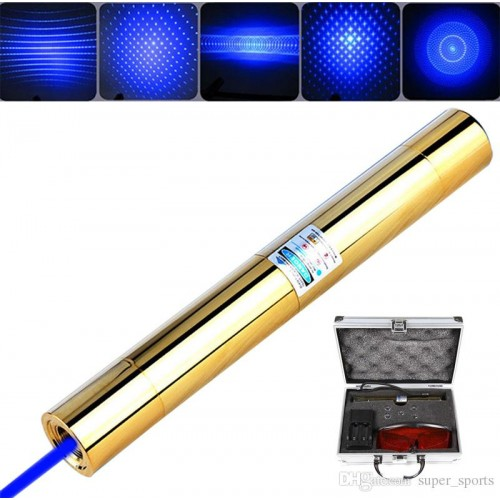 Акумулаторен супер мощен син лазер