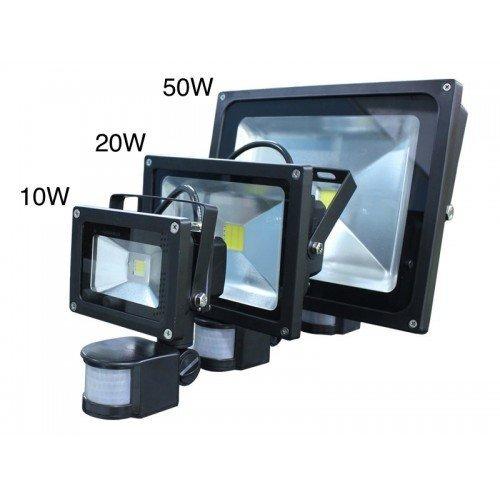 LED Прожектор с датчик за движение - сензор 10W, 20W, 30W, 50W