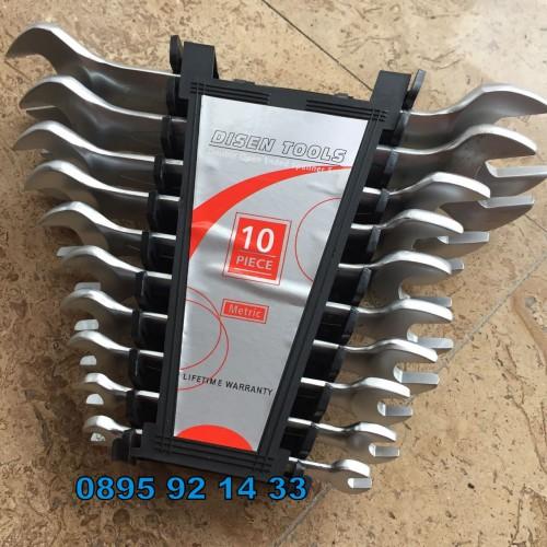 Комплект двустранни метрични гаечни ключове от 6 до 27mm Cr-V