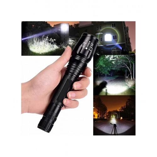 Мощен акумулаторен зомиращ LED фенер ZOOM T6-1000L