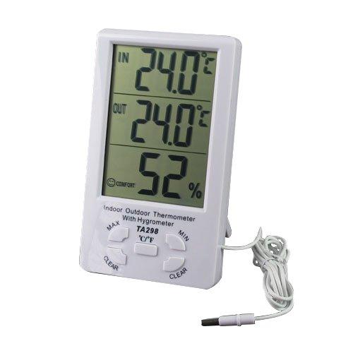 Термометър, Хидрометър и часовник 3 в 1 - модел AT TA298