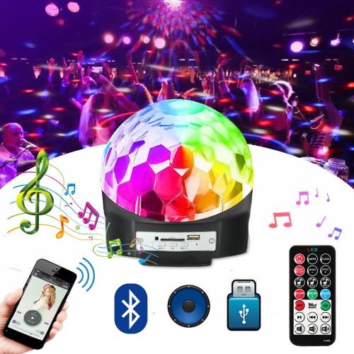 Диско LED Лампа с тонколона и Bluetooth