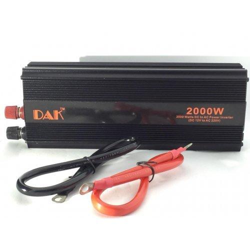 Инвертор на напрежение 2000w Dak за кола/камион 12V / 24V
