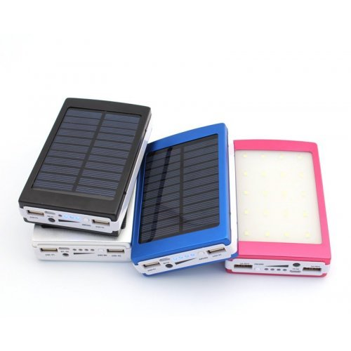 Соларна Преносима батерия 50000mAh с 20 LED диода и 2 USB изхода