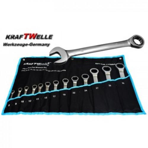 Звездогаечни тресчотни ключове 8-32мм KrafTWelle