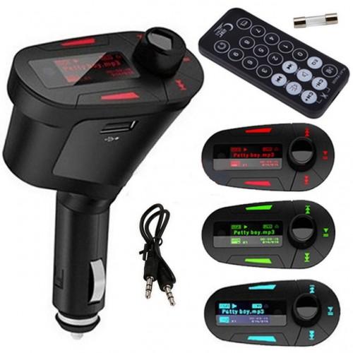 FM трансмитер с Bluetooth за автомобил с LCD дисплей и USB вход