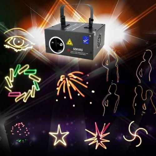 Диско лазер с SD карта - Лазерен прожектор