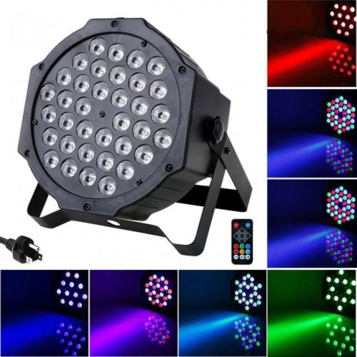 LED Цветен Диско прожектор с 35 диода / Дискотечна лампа