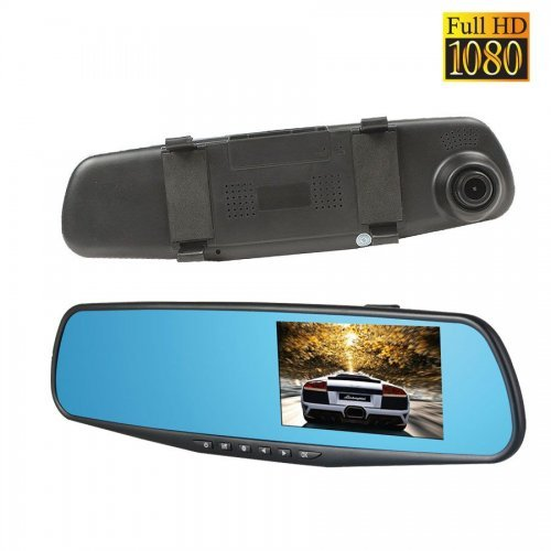 """Авто Видеорегистратор огледало 4.3"""" монитор +камера за паркиране"""