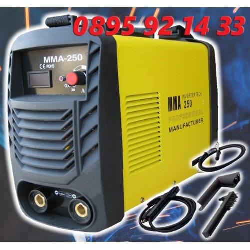 Инверторен Електрожен WS-250А С АРГОН + Маска за заваряне