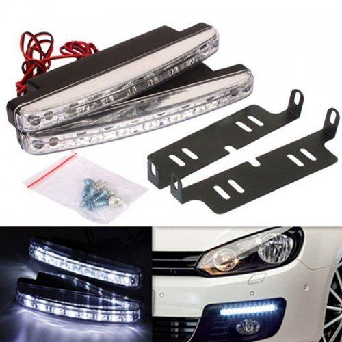 LED дневни светлини за кола - бели , водоустойчиви