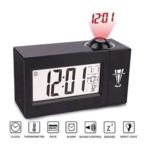 Мултифункионален Будилник с проектор - часовник