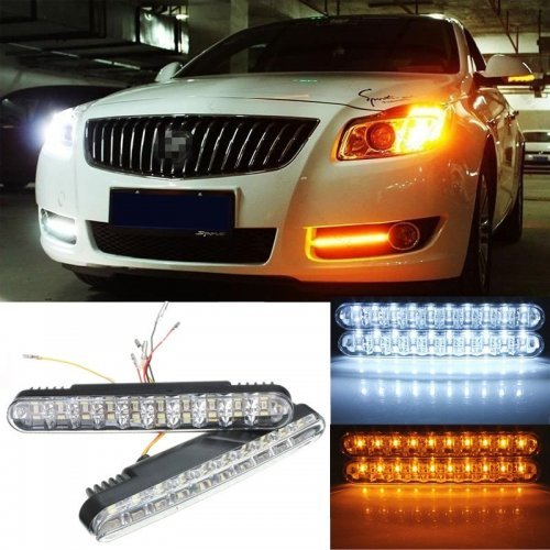 Ярки Дневни LED Светлини Е4 с 8 диода , водоустойчиви за автомобил