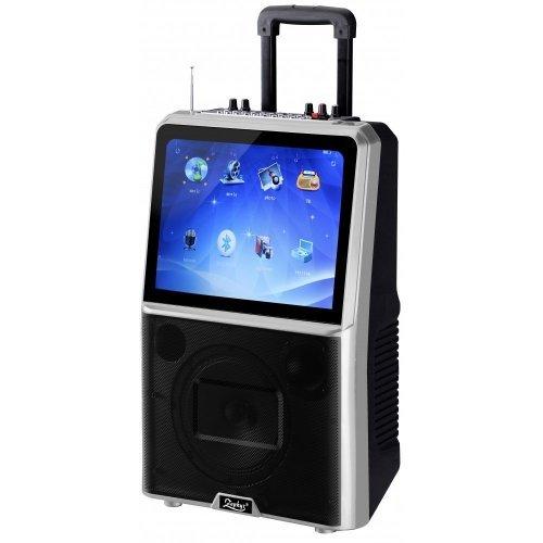 "Караоке тонколона с акумулатор Zephyr 15"" LED дисплей, MP3, Bluetooth, 2 безжични микрофона"