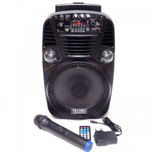 """Компактна акумулаторна караоке колона FEIYIPU ES-8 8"""" 300W с 1 микрофон"""