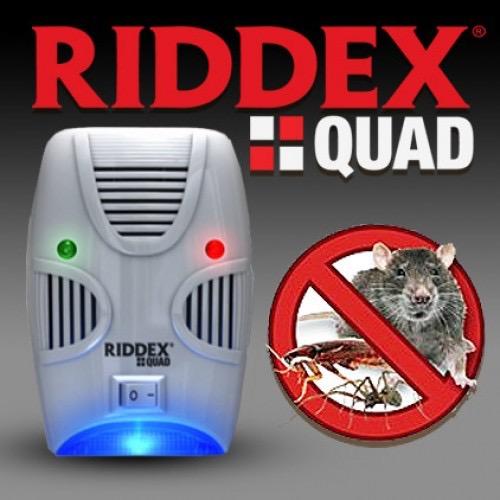 Електронен уред за борба с домашни вредители Riddex Plus - мишки, плъхове, хлебарки
