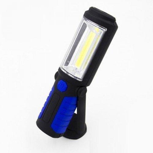 Акумулаторна аварийна LED лампа 1+1 COB USB фенер