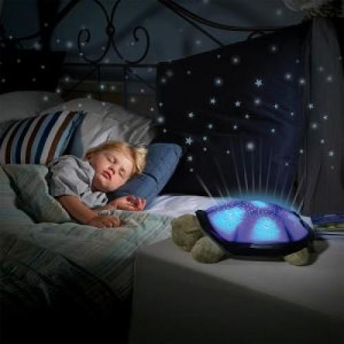 Голяма Костенурка Нощна лампа - светеща с мелодии за приспиване