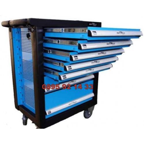 Немски Шкаф количка с инструменти 7 чекмеджета - 5 пълни KRAFTWELLE