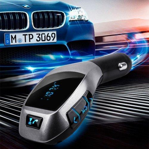 Стилен Bluetooth FM трансмитер за автомобил USB MP3 с Хендсфри