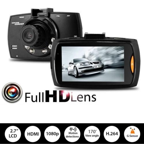 """HD Камера за кола с 2.7"""" диспей - видео авто регистратор с Нощен режим"""