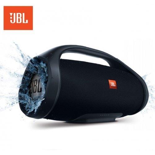 Тонколона JBL Boombox, водоустойчива, безжична, с вградена батерия, зареждащa мобилни устройства, черна